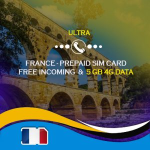 France SIM Card Plan 5gb data