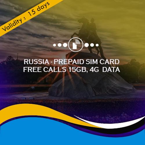 Russia sim card 15GB Data