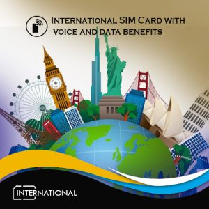 International data sim with voice